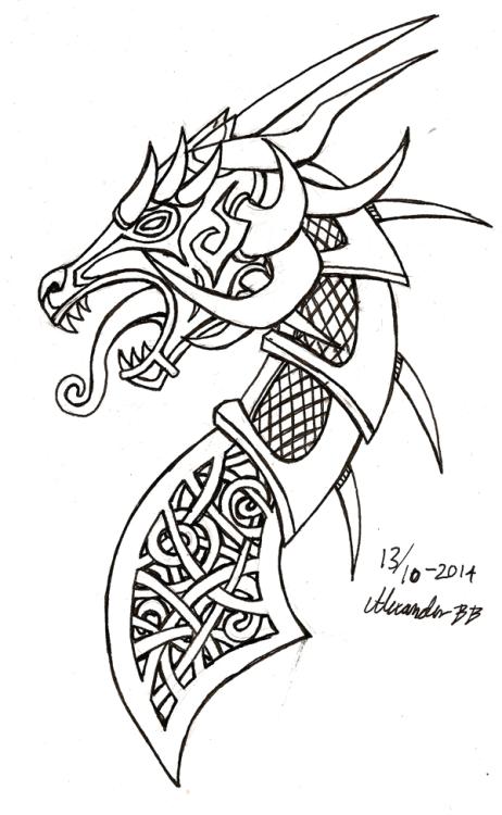 Drawn viking viking dragon Dragon longships You Figurehead how
