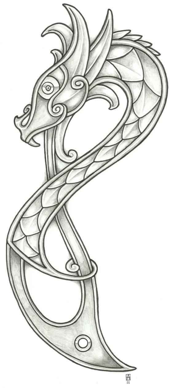 Drawn viking viking dragon Vikingtattoo 20113 on vikingtattoo Viking