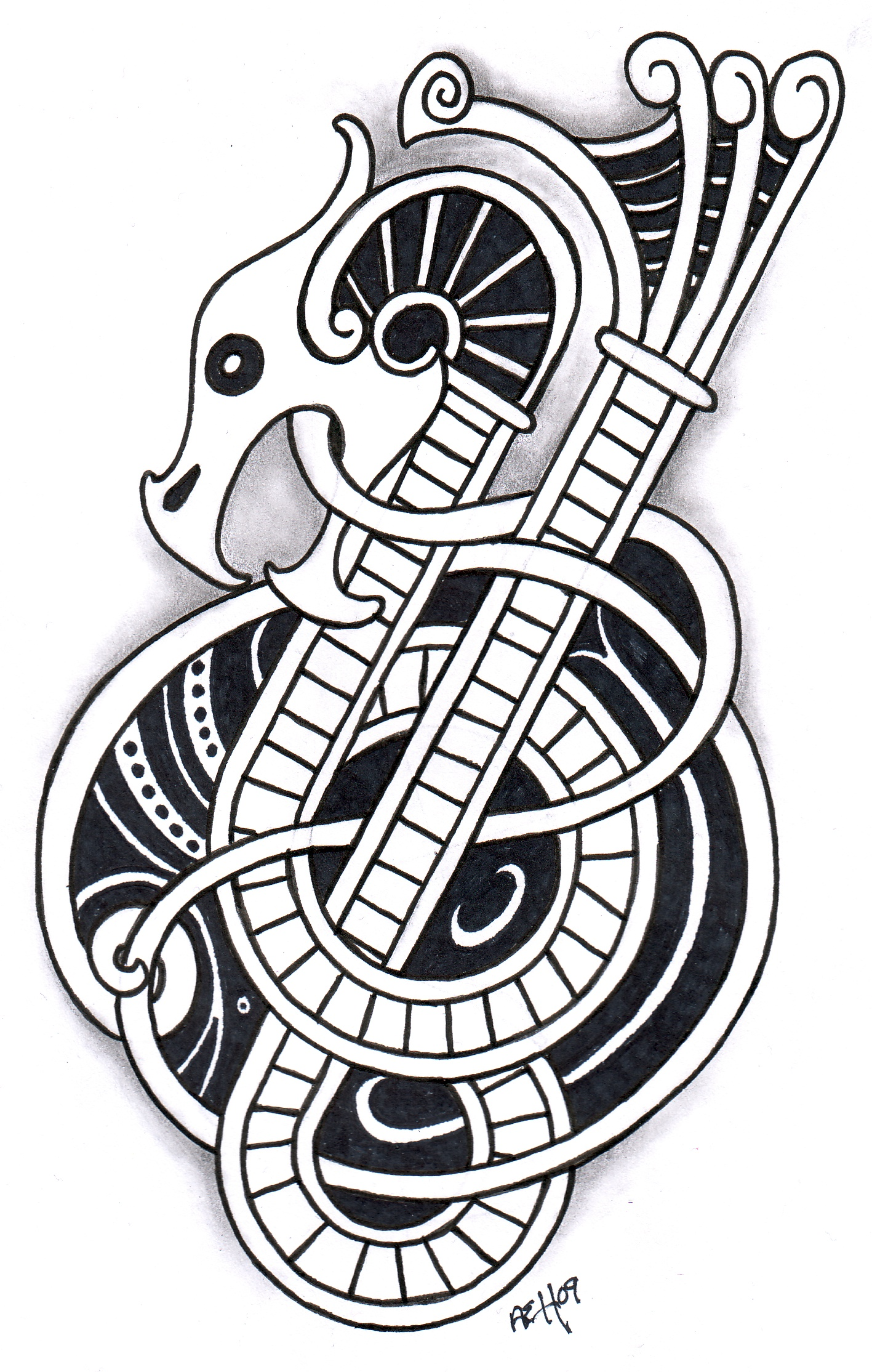 Drawn viking viking dragon 73 by Tattoos Viking more!