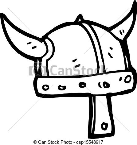 Drawn viking viking hat  Vector helmet viking Vector