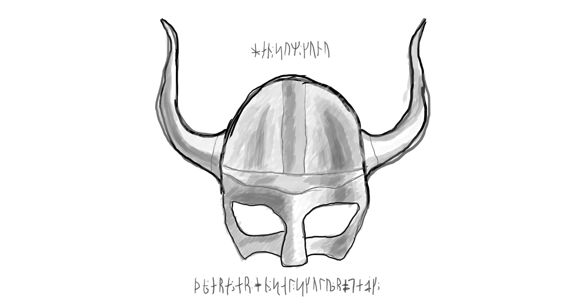 Drawn viking viking hat Vikings Viking Helmet August SketchDaily