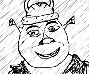 Drawn viking viking hat Shrek Stickpool) by Shrek wears