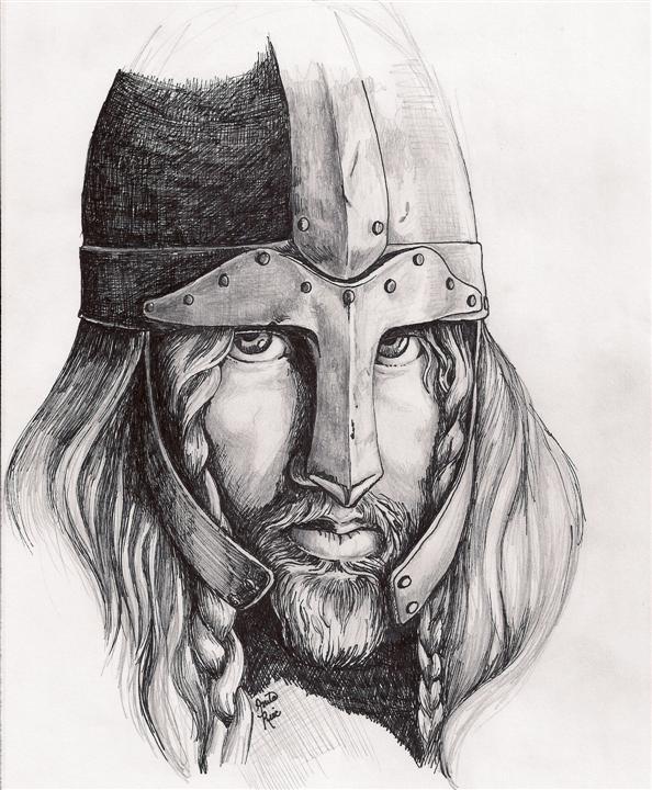 Drawn viking viking man DeviantArt VIKING MAN by AnitaBurnevik