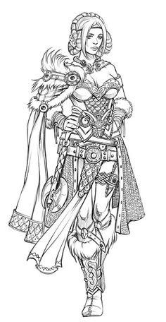 Drawn viking viking woman And ideas  Tattoo love