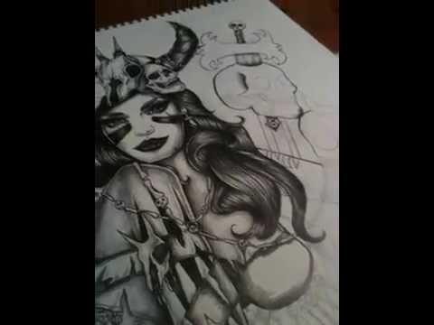 Drawn viking viking woman Paper on YouTube on Girl