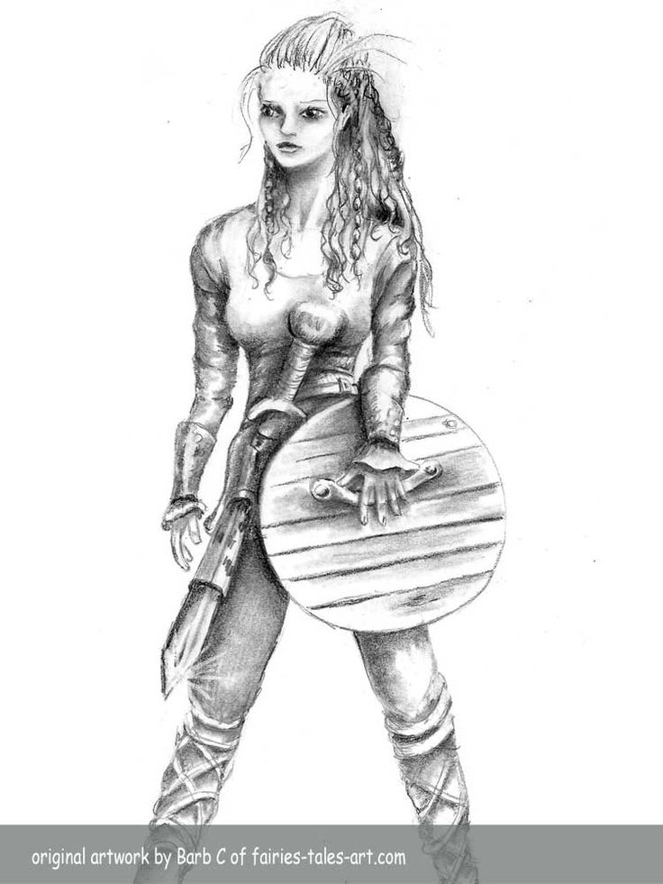 Drawn viking viking woman On warriors fantasy woman 102