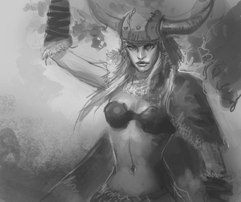 Drawn viking viking woman Woman Viking  warrior to