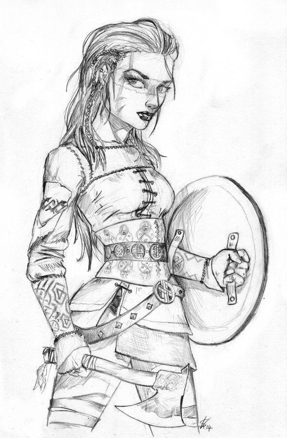 Drawn viking viking woman Pinterest Viking on Clothing 215