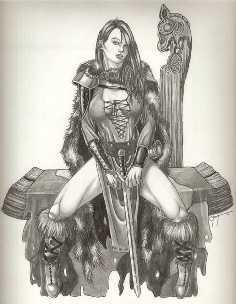 Drawn viking viking woman Vikingwoman DeviantArt dravan Explore by