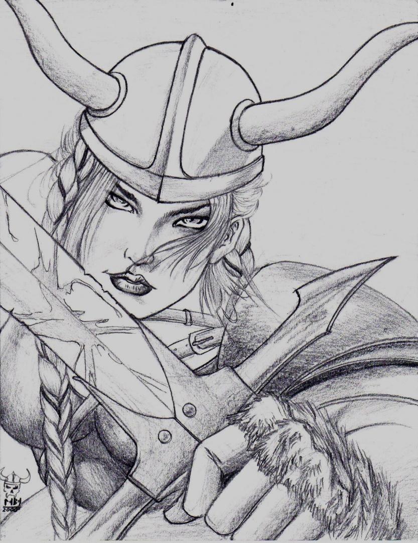 Drawn viking viking woman (drawing Oscarlira) woman Our
