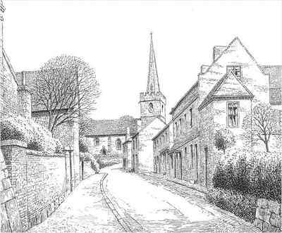 Drawn village Pen Worcestershire village street Worcestershire