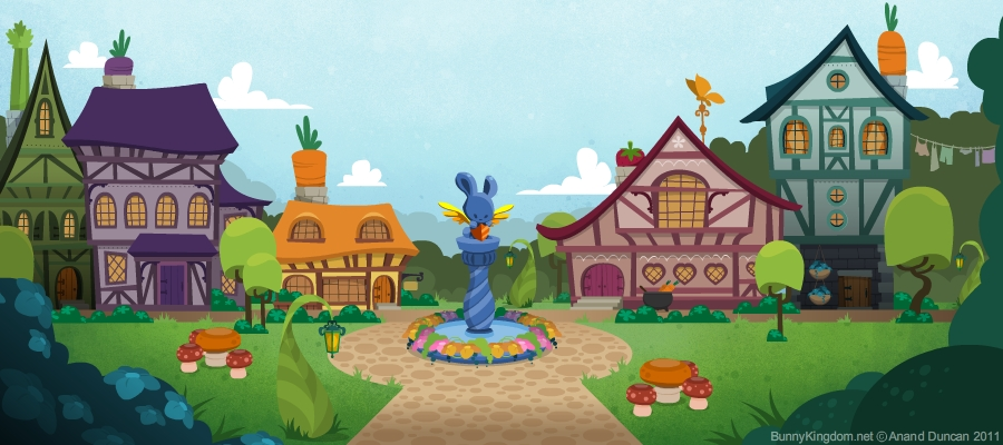 Drawn village Kingdom Bunny Completely for in