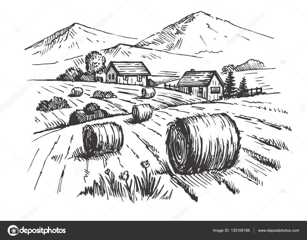 Drawn village #14