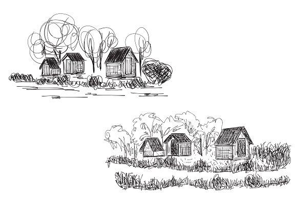 Drawn village #5