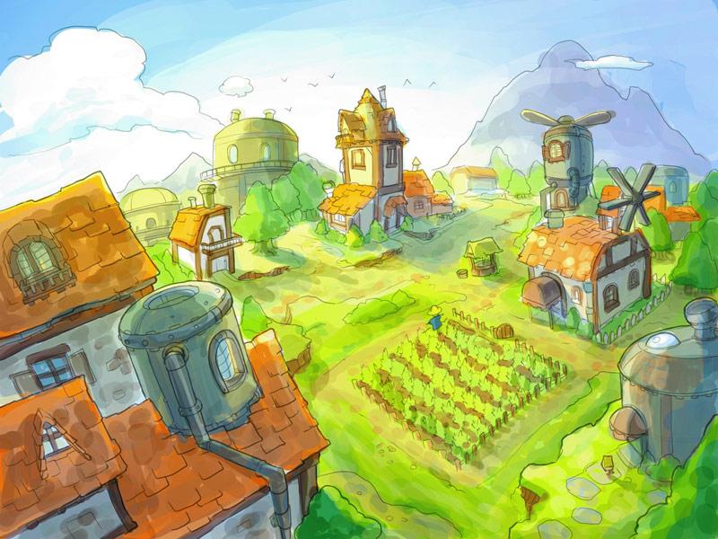 Drawn village #6