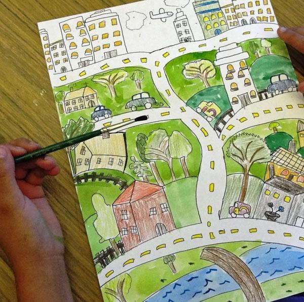 Drawn city On Best + a Fun