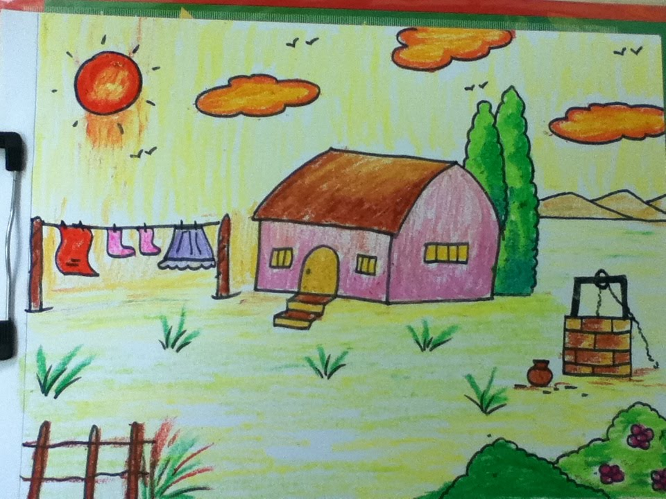 Drawn scenery easy YouTube in kids steps for