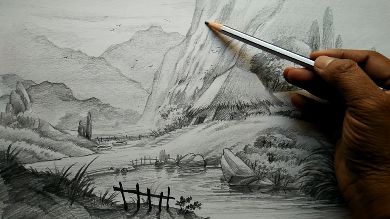 Drawn road pencil drawing Unsubscribe Pencil Draw from With