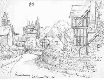 Drawn scenery scene Pencil Drawing village pic draw