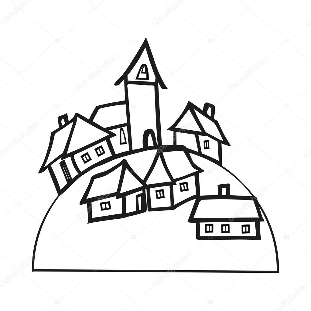 Drawn village small #6