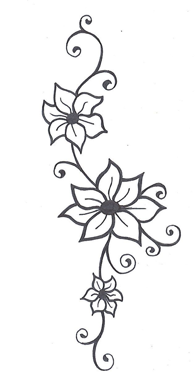 Drawn vine Tattoos Best Flower Pinterest Vine