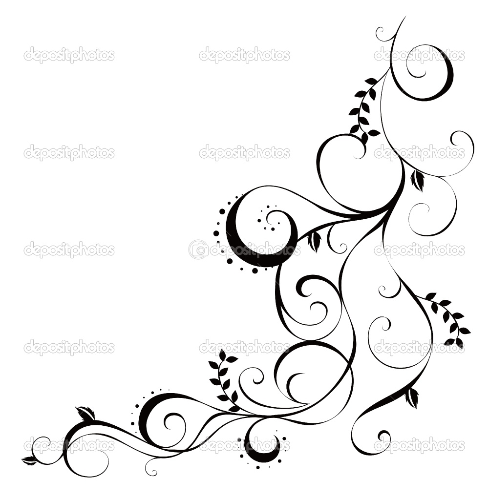 Drawn vine artistic #14