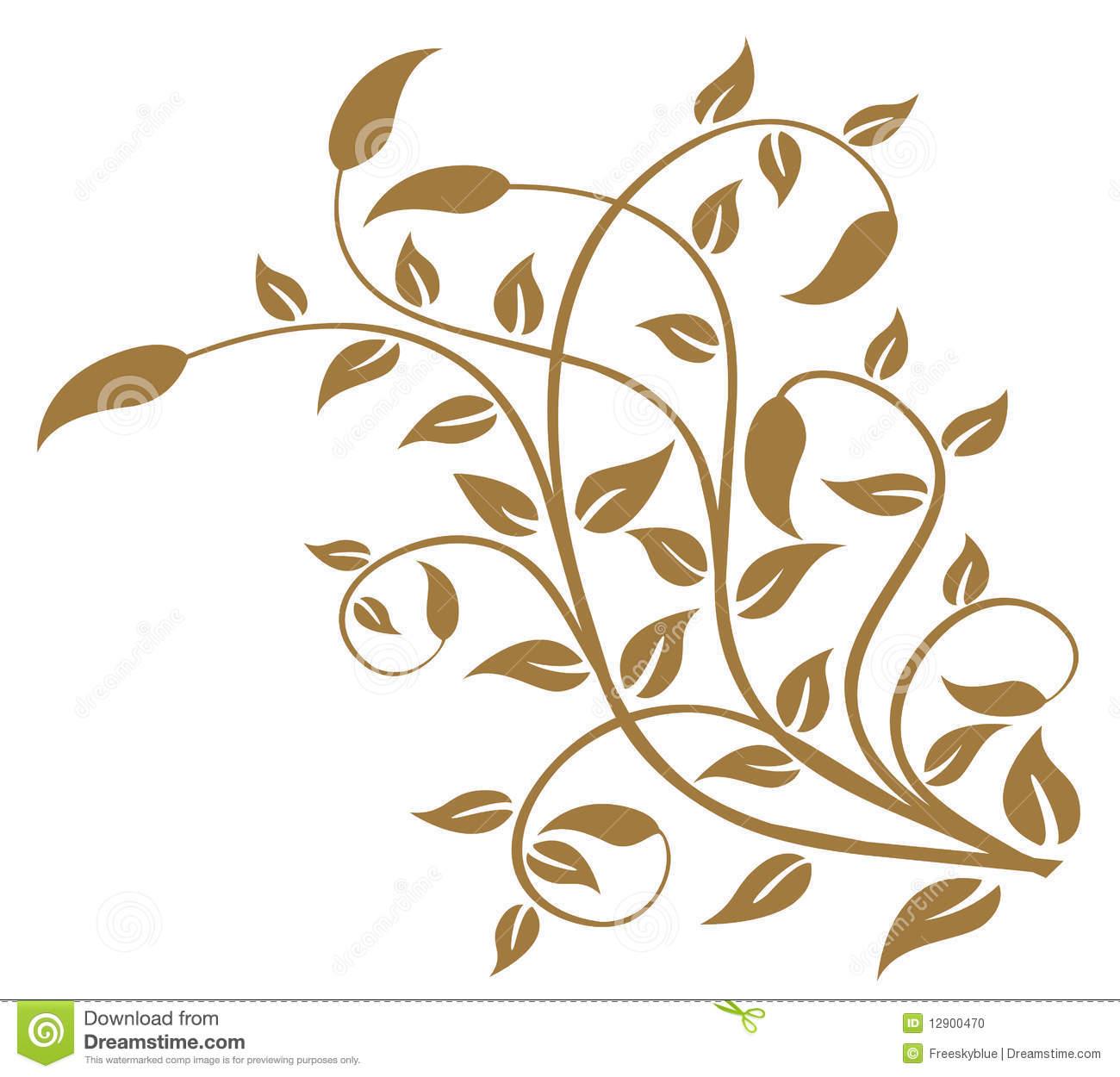Drawn leaves vine leaf Of a of background allover