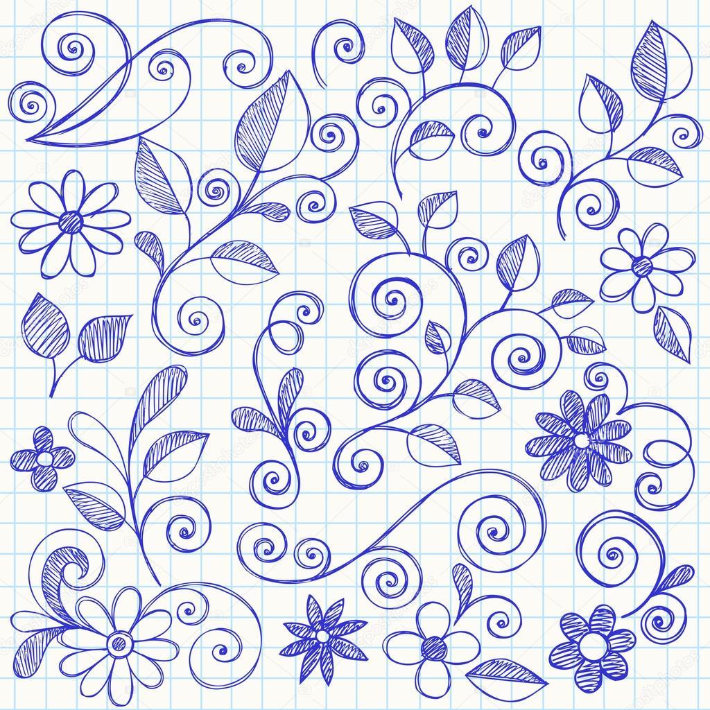 Drawn vine Swirly © #9838751 Drawn —