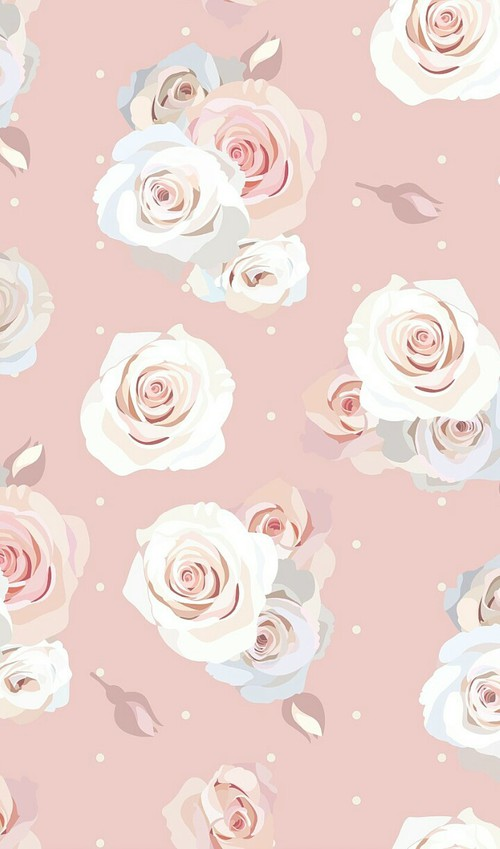 Drawn vintage flower background pattern Cute  colorful and cartoon