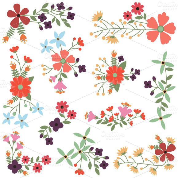 Drawn vintage flower vector Out Flowers and PinkPueblo Clipart