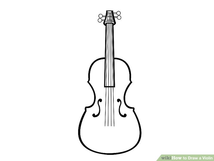 Drawn violin A titled 15 Image Draw
