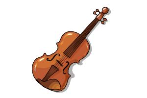 Drawn instrument violin To Violin DrawingNow Step Draw
