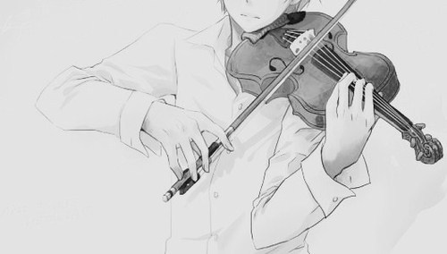 Drawn violinist anime And  more violin and