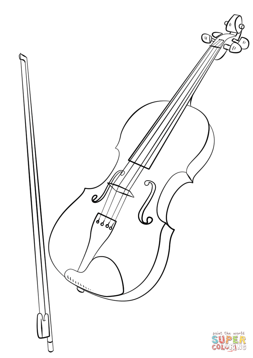 Drawn violinist coloring page Color with and (compatible it