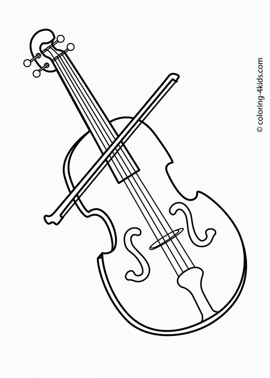 Drawn violinist coloring page Free http at PDF Print