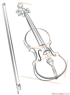 Drawn violinist doodle Violin tutorials bow to