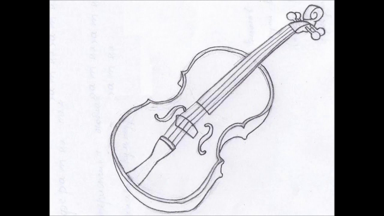 Drawn violinist line drawing To A Draw To Violin