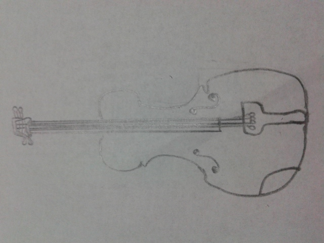 Drawn violin line drawing WikiHow a How (with Pictures)
