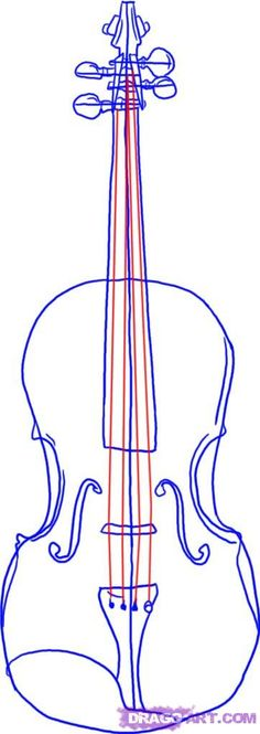 Drawn violin line drawing Violin by nice would Step