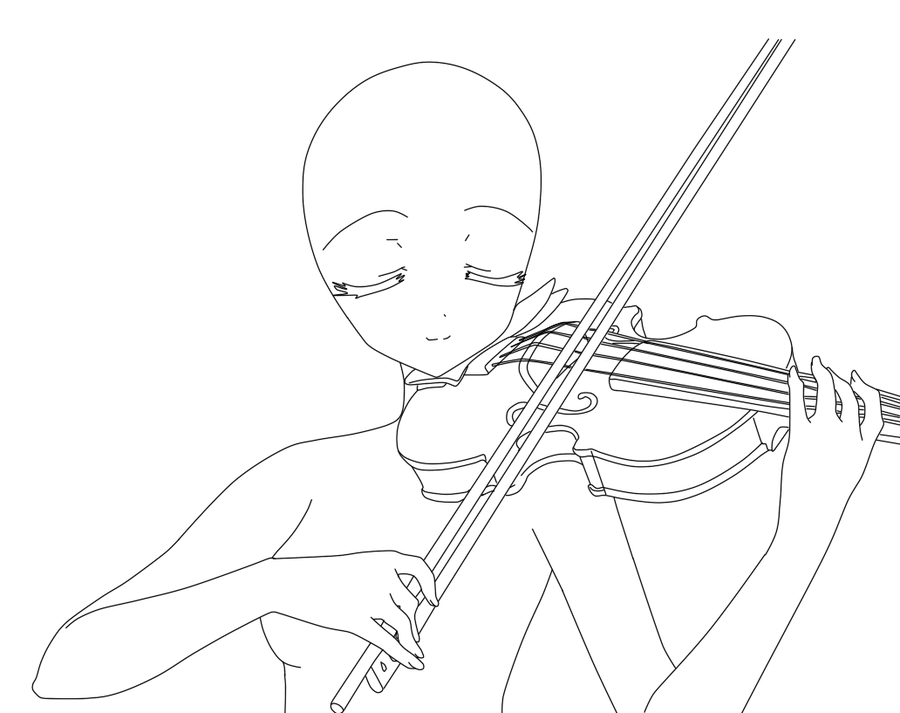 Drawn violin line drawing BlueberryBases Pinterest on 2 art