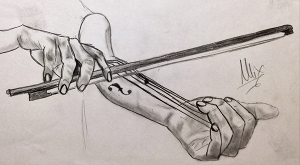 Drawn violin pencil sketch Canvas on Violin Violin Sketch