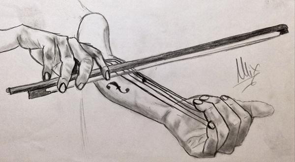 Drawn violin Gallery Rhymes/Pencil Violin Sketch Drawing