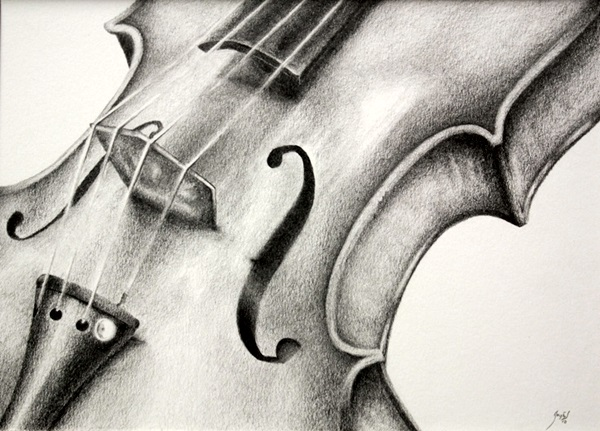 Drawn violin Bored observational Excellent drawing Ideas