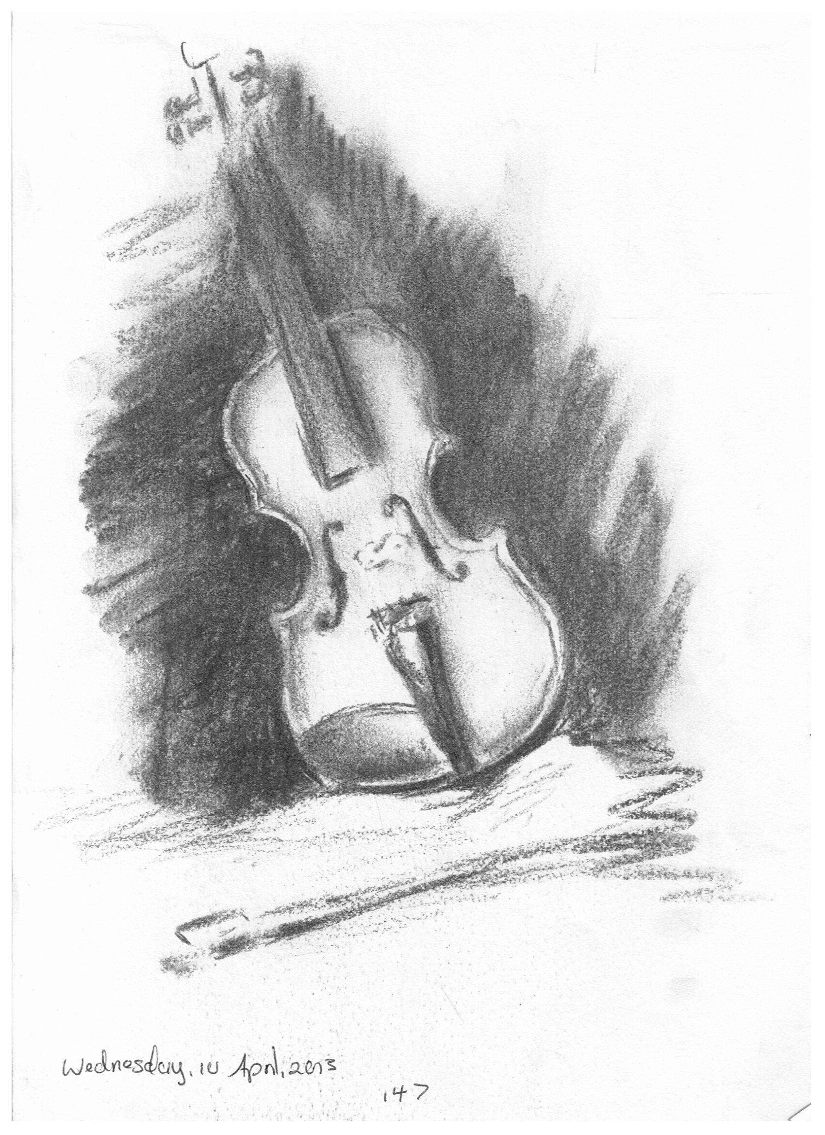 Drawn violinist realistic Violin in drawing charcoal Pinterest