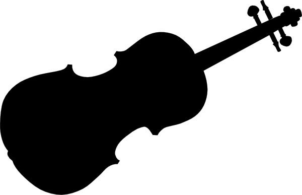 Drawn violinist silhouette Clip art Open Silhouette