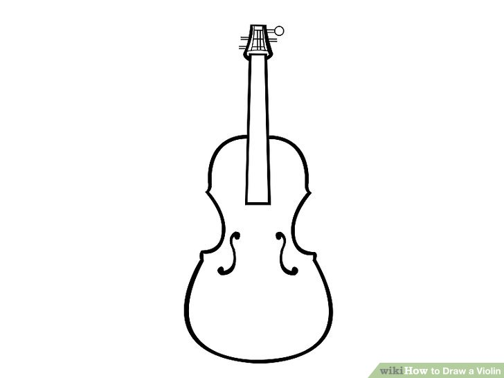Drawn violinist simple WikiHow 15 Steps Draw Pictures)