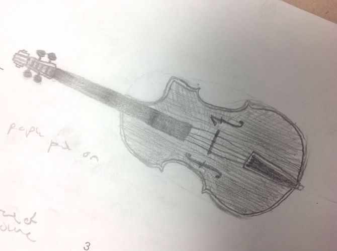 Drawn violin string instrument Cello: to Draw wikiHow Made