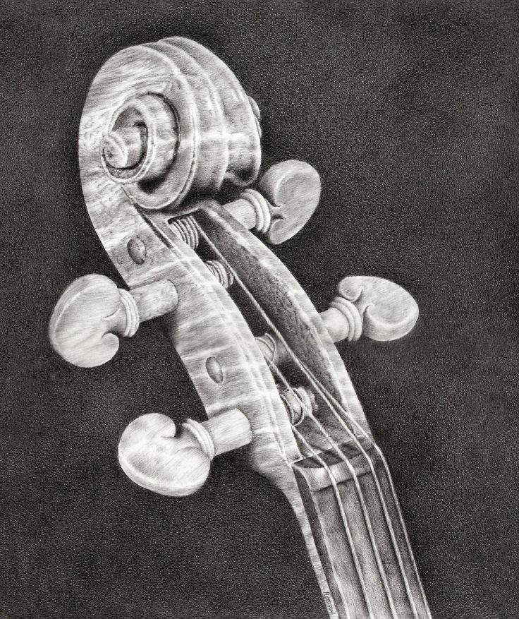 Drawn violin string instrument Art images about  Music/Instruments