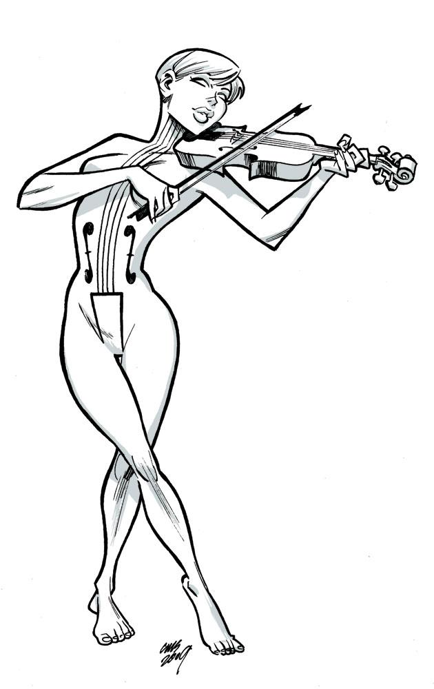 Drawn violin umbrella academy / Academy Violin Violin The