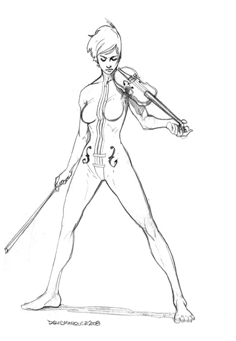 Drawn violinist umbrella academy 31 Academy Vanya on about
